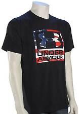 Under Armour Big Flag Logo T-Shirt - Black / White - New