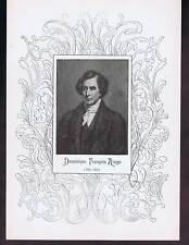 Dominique Francois Arago 1898 Portrait Print