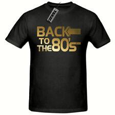 Back To The 80's T-Shirt, (Gold Logo) Men's T-Shirt,Fancy Dress 80's