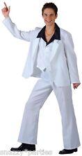 70's SABATO SERA DISCOTECA CLASSICA BIANCO Suit JOHN TRAVOLTA Uomo Costume S-XL