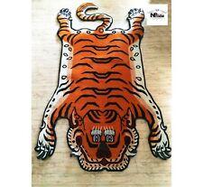 Tibetan Tiger Rug Wool Carpet 3 Sizes  Handmade in Nepal 100 Knot Orange