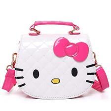 Children Bag Hello Kitty Embossed Bowknot Handbag Kids Pink For Girls Shoulder