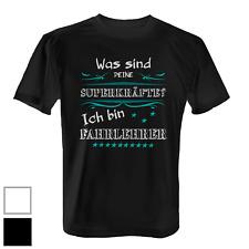 Superkräfte Fahrlehrer Herren T-Shirt Fun Shirt Spruch Fahrschule Geschenk Idee
