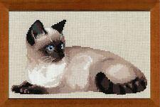 "Thai cat (siamois) Cross Stitch Kit-Riolis - 15 ""X 10,25 pouces (r1066)"