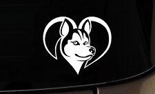 I Love My Husky Dog iPad Vinyl  Car Window Decals Sticker Siberian Rescue