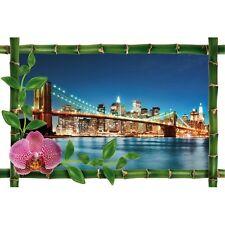 Sticker Bambou déco pont de brooklyn 983