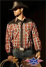 Rockabilly, Westernhemd Jayden, rot/schwarz kariert v. Stars&Stripes