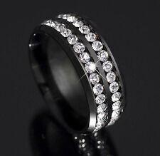 Quality Titanium Ring With Brilliant Cut Zirconium Stones