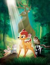 Cartel De Cine Bambi sin diálogo película de Disney A4 A3 impresión De Arte Cine