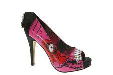 Iron Fist Gold Digger Zombie Stomper Nueva Plataforma Zapatos Taco De Rock Rosa Rojo Blanco