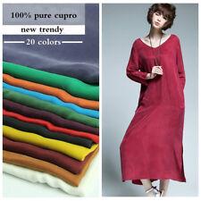100% Cupro Silk Fabric Craft Materials Dress Cloth Many Colors 1.35*0.5m Silky