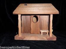DON LEE BIRD HOUSE RUSTIC ORIGINAL LOG CABIN LIMITED EDITION