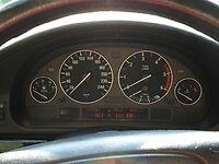 4 CERCLAGE DE COMPTEUR CHROME BMW SERIE 5 E39 ET X5 E53