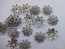 50/100/200 Tapas de Grano de Plata Tibetana Muy Antiguo En 8 Estilo Filigrana De Hoja