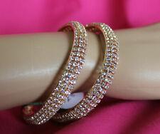 Bracelet Bangles 5488 Golden Bangle Kadra Indian Polki Jewelry Shieno