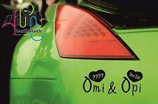 A 869 - Omi & Opi 2016 2017  Enkel Geburt Baby  Aufkleber Autoaufkleber Sticker
