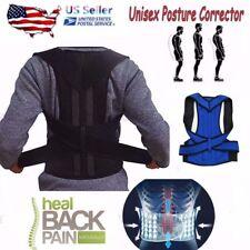 Man Woman Back Support Belt Posture Corrector Brace Lower Upper Back Pain Relief