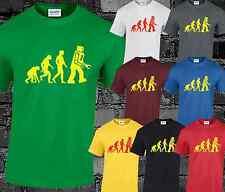 Robot Evolution Mens T Shirt Big Bang Theory Sheldon Cooper Funny Fashion Retro
