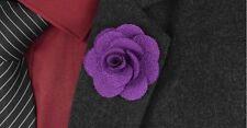 "Floral Boutonniere Stock Pin Ml11 Handmade Men's Flower Lapel Pin 1.6"""