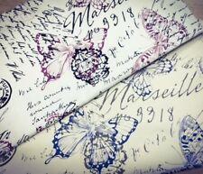 Shabby Chic Marsella 100% tela de algodón de la mariposa. precio por 1/2 metros