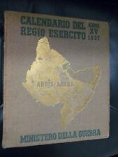 CALENDARIO DEL REGIO ESERCITO ANNO XV - 1937 - FASCISMO - MINISTERO DELLA GUERRA