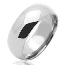 Men's 14K White Gold 7mm Plain Wedding Band Right Hand Ring / Gift Box