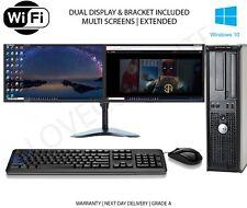 FULL DUAL SCREEN DUAL CORE DESKTOP TOWER PC&LCD,WIN 7/10 16GB 3TB or 240GB SSD