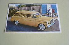 Mid Sixties Stedebaker Lark Stationwagon Postcard Vintage