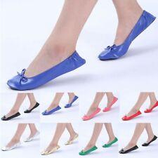 Women's Foldable Portable Travel Ballet Flat Roll Slipper Shoes Dance Party Shoe