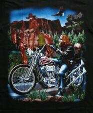 Biker T-SHIRT COWBOY Rocker TG S, M, L, indiani, TRIKER, USA, CAVALLO MOTO RIDER