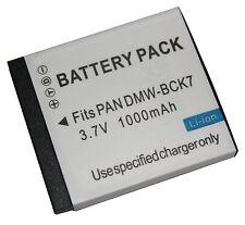 Battery Charger for Panasonic DMW-BCK7 DMW-BCK7E DMC-FP7 DMC-FH5 DMC-FX78 DMC-S3