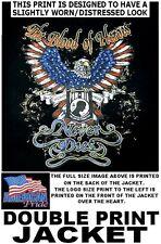 POW MIA HEROS THANK ALL VETERANS AMERICAN EAGLE PRIDE FLAG PATRIOTIC JACKET W522