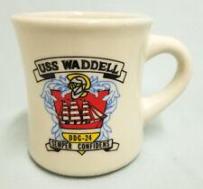 USN US NAVY USS WADDELL DDG-24 SHIPS CREST DESTROYER LOGO CUSTOM MUG CUP STEIN