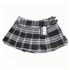 SexyPunk - Falten Rock Scottish Short Kilt Schwarz Weiß Tartan Punk Rock