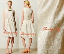NEW Sz 4 6 Anthropologie Magnolia Lace Dress By Alexandra Grecco $298 USA RARE