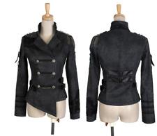 New Punk Rave Rock Dark Grey Unisex Jacket Coat Y-306 ALL STOCK IN AUSTRALIA!