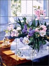 Tulip Tile Backsplash Ce 00004000 ramic Mural Wright Flowers Floral Art Pov-Wwa013