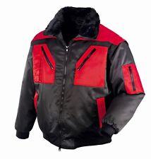 teXXor OSLO Pilotenjacke 4in1-Jacke schwarz/rot Arbeitsjacke Winterjacke