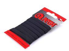 5 Meter Gummiband Gummilitze Unterwäsche flach 8 mm schwarz weiss