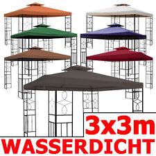 ° Pavillon 08 WASSERDICHT 3x3 Metall Festzelt wasserfest Ersatzdach Pavillion