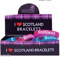 SILICA BRACELETS - I LOVE SCOTLAND PINK OR BLUE