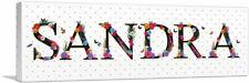 ARTCANVAS SANDRA Girls Name Room Decor Canvas Art Print