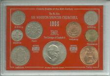 Sir Winston Churchill Commémoratif GB Grande-Bretagne couronne pièce ensemble cadeau 1965