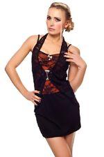 Minikleid Partykleid Longshirt Kleid Top Shirt Neckholder Lagenlook 36 38 40