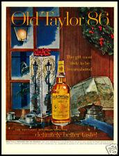 1961 Old Taylor bourbon whisky Christmas print ad