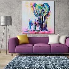 Home Decor Art Oil Paintings Abstract Elephant Cartoon on Canvas Art Unframed