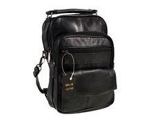 100% Leather Shoulder/Carry/Travel/Flight Multiple Bag  Pocket for Gent/Ladies
