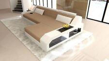 Sofa AREZZO L Stoff Couch mit LED Beleuchtung modernes Design Ecksofa Recamiere