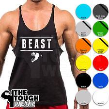 Gym Singlets - BEAST 320 - Men's TankTop Bodybuilding Stringer Workout Fitness