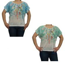 Femmes Nuque Longue Chemise avec Motif T Shirt Chauve-Souris Made In Italy